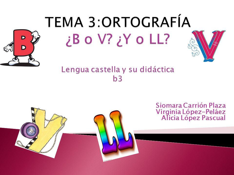 Siomara Carrión Plaza Virginia López-Peláez Alicia López Pascual