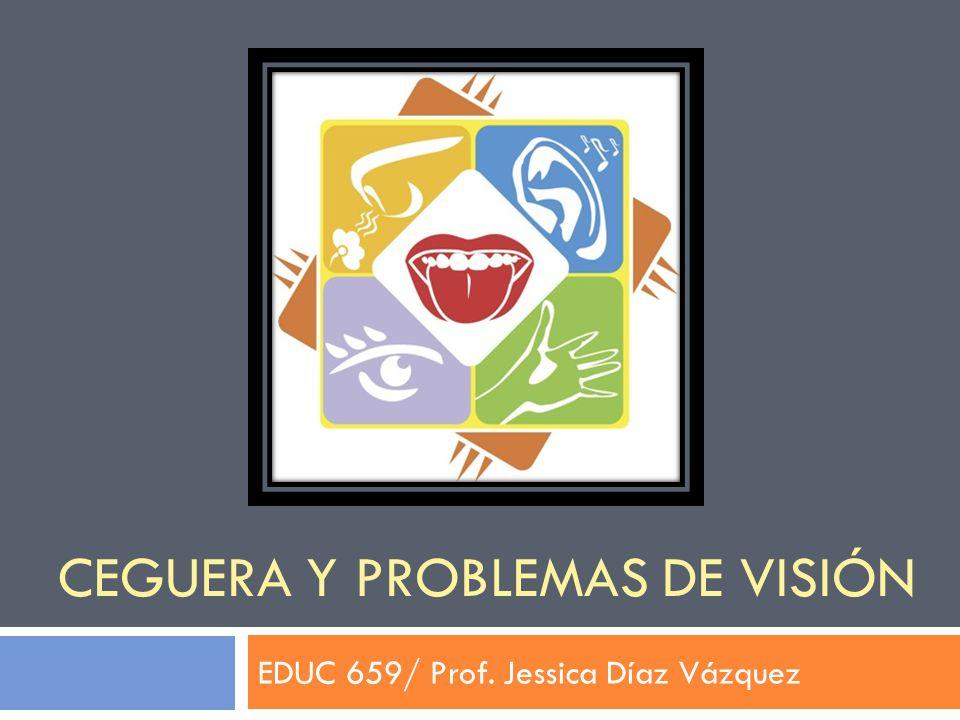 CEGUERA Y PROBLEMAS DE VISIÓN EDUC 659/ Prof. Jessica Díaz Vázquez