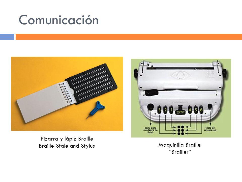 Comunicación Pizarra y lápiz Braille Braille Stale and Stylus Maquinilla Braille Brailler