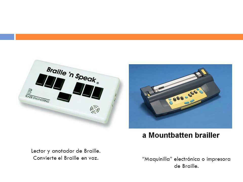 Lector y anotador de Braille.Convierte el Braille en voz.