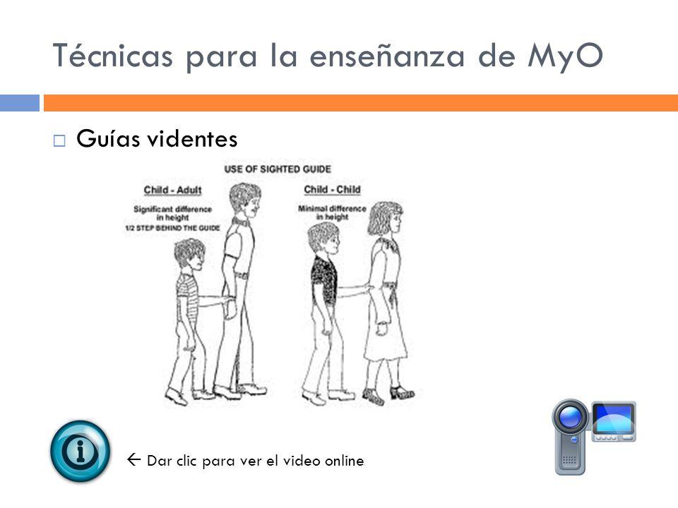 Técnicas para la enseñanza de MyO Guías videntes Dar clic para ver el video online