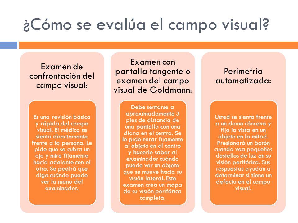 ¿Cómo se evalúa el campo visual.