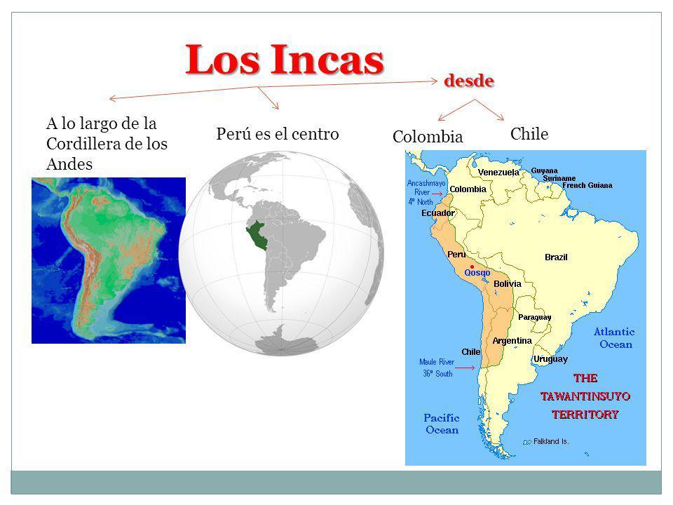 IMPERIO INCA Consolidó S XIII Vivían a 4000 msnmSu centro era el Lago Titicaca Forma de GobiernoLider Inca Consejo de Orejones Desde niños usaban pesas en sus orejas