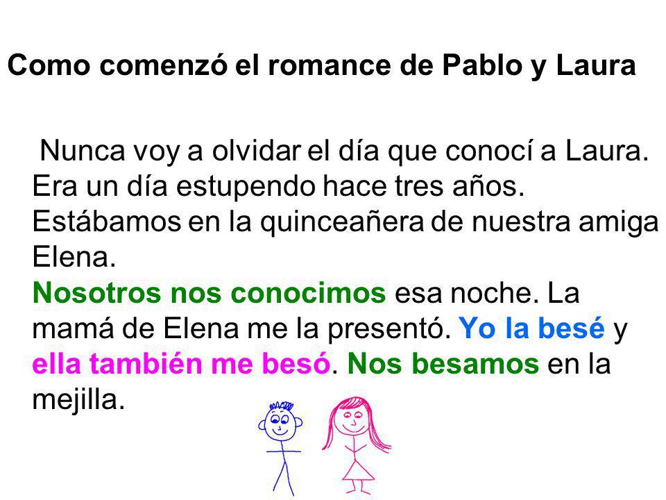 Como comenzó el romance de Pablo y Laura Nunca voy a olvidar el día que conocí a Laura. Era un día estupendo hace tres años. Estábamos en la quinceañe