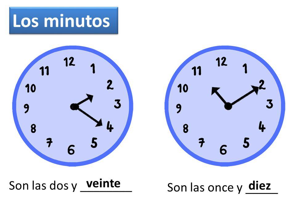 Es la una Son las dos Son las diez Son las cuatro Son las doce La hora