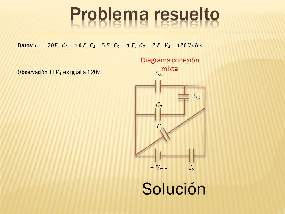 Diagrama conexión mixta Solución