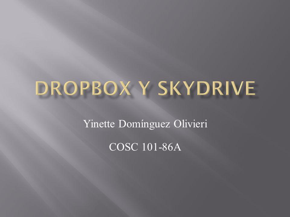 A través de esta presentación se pretende informar sobre dos servicios que existen llamados Dropbox y Skydrive.