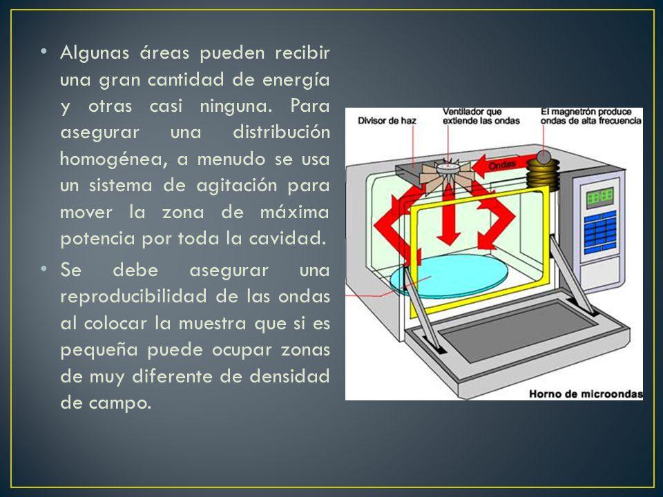 Algunas áreas pueden recibir una gran cantidad de energía y otras casi ninguna. Para asegurar una distribución homogénea, a menudo se usa un sistema d