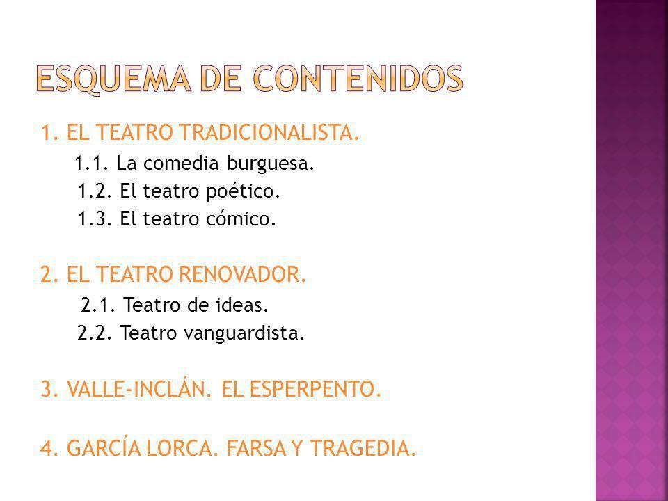 1.EL TEATRO TRADICIONALISTA. 1.1. La comedia burguesa.