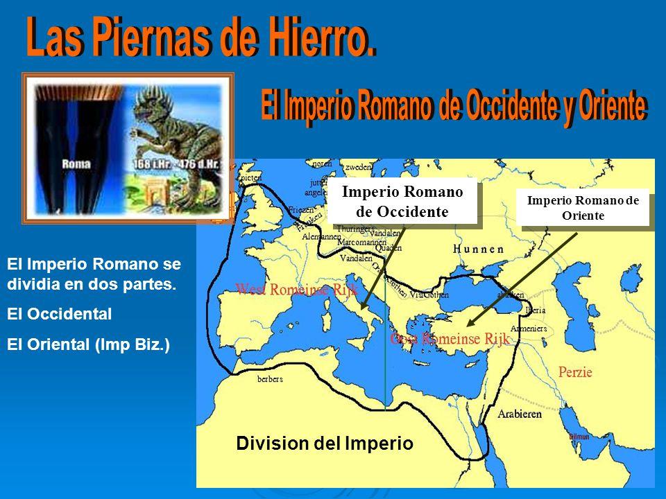 El Imperio Romano se dividia en dos partes.