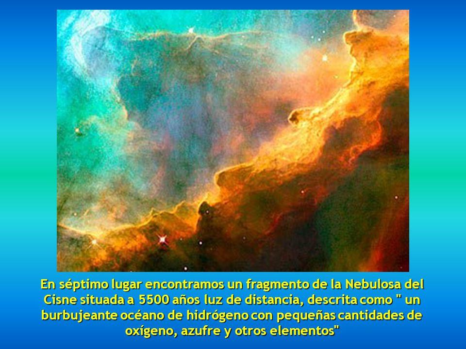 En sexto lugar tenemos la Nebulosa del Cono, a 2.5 años luz.