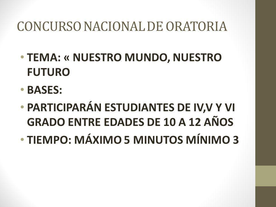 CALIFICACIÓN TIEMPO DE PARTICIPACIÓN (1-10) se calificará la velocidad para controlar la expectativa y el énfasis de la presentación.