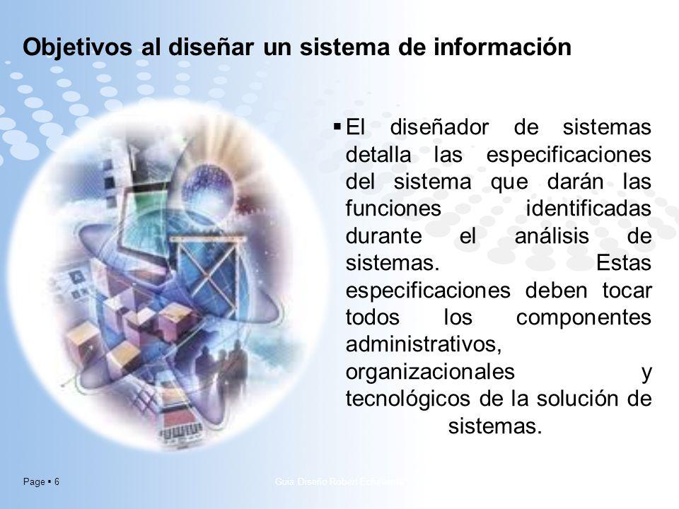 Page 6 El diseñador de sistemas detalla las especificaciones del sistema que darán las funciones identificadas durante el análisis de sistemas. Estas