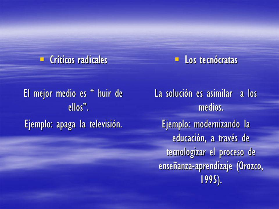 Críticos radicales Críticos radicales El mejor medio es huir de ellos.