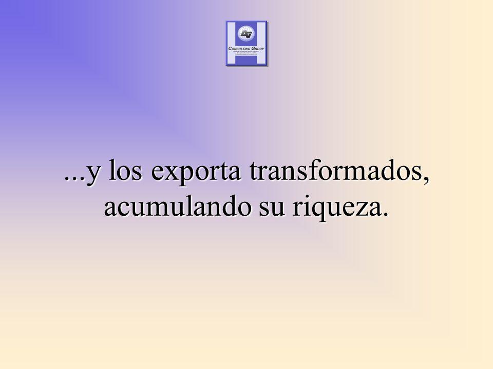 ...y los exporta transformados, acumulando su riqueza.