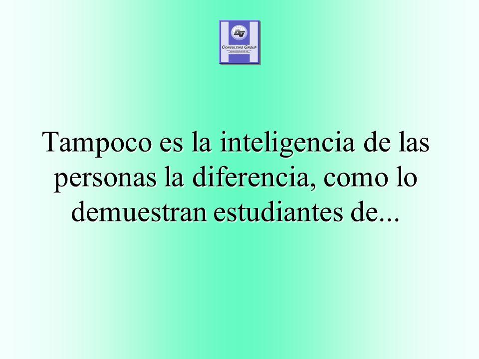 Tampoco es la inteligencia de las personas la diferencia, como lo demuestran estudiantes de...
