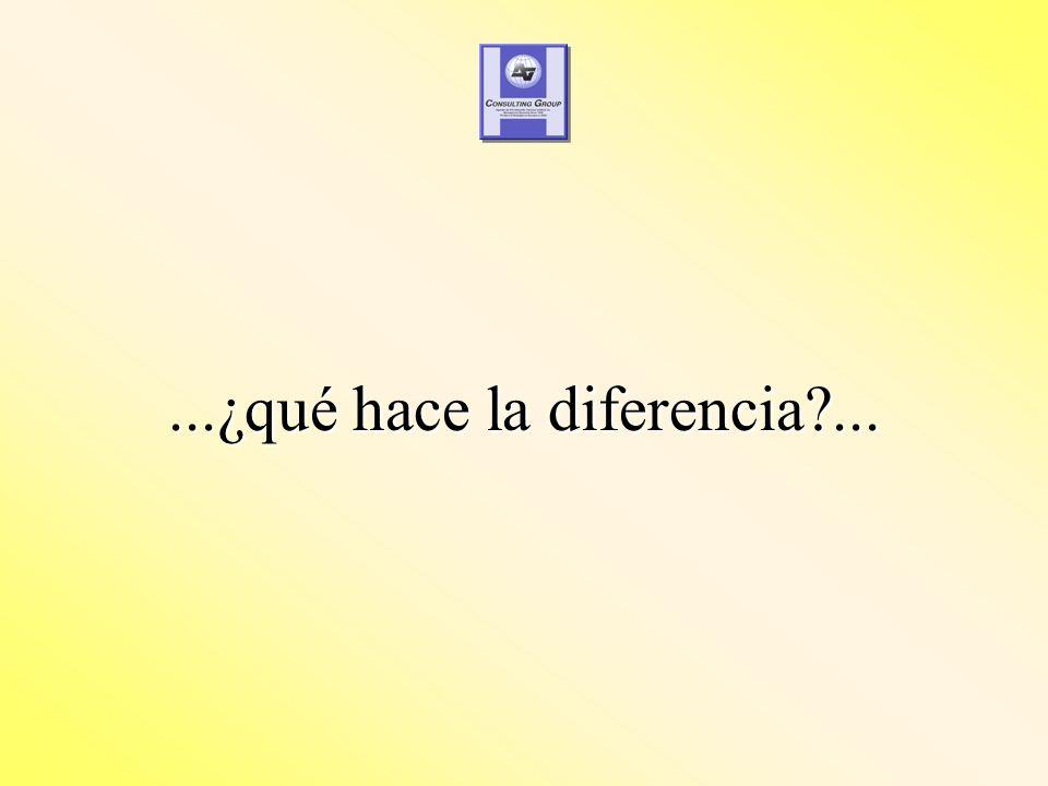 ...¿qué hace la diferencia ...