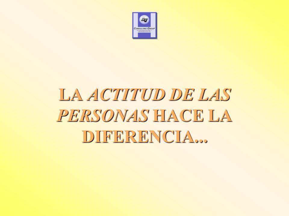 LA ACTITUD DE LAS PERSONAS HACE LA DIFERENCIA...