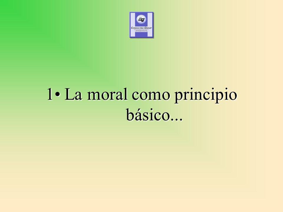 1 La moral como principio básico...