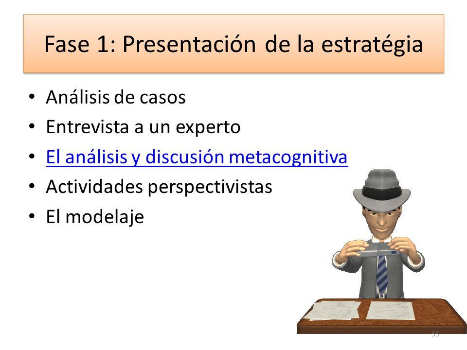 Métodos de enseñanza estratégica Una estrategia: – Se presenta y se practica por el estudiante – Se guía por el profesor – Dominio autónomo del estudi