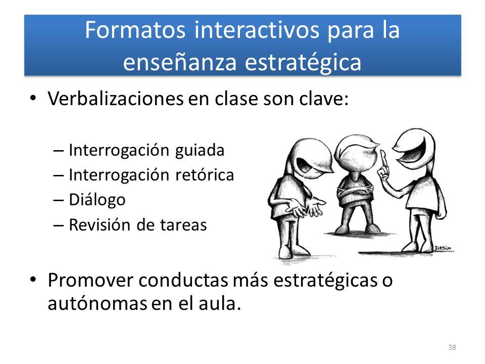 Fase 3: Práctica autónoma de la estrategia Autoinformes Revisión de la estrategia Evaluación por carpetas o portafolios 37