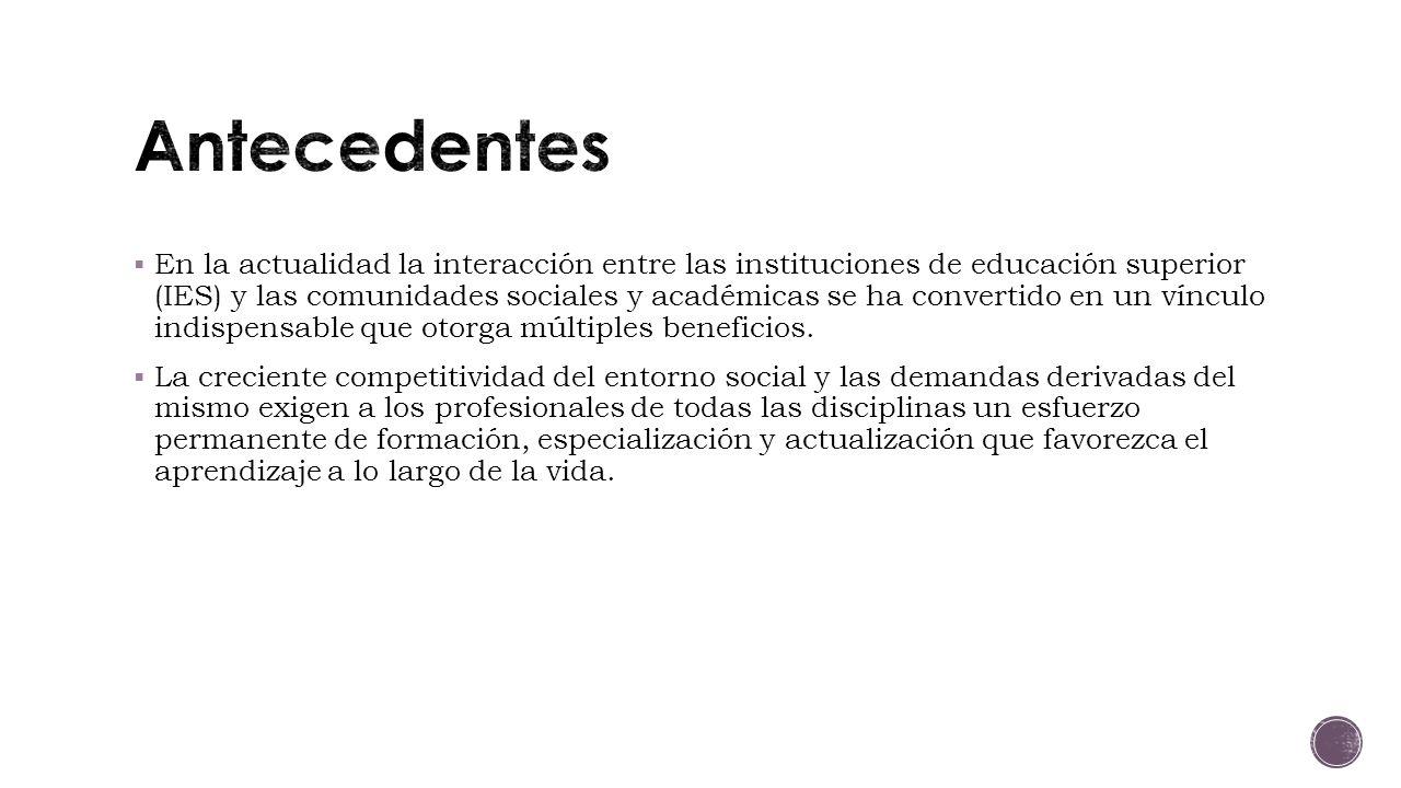 En la actualidad la interacción entre las instituciones de educación superior (IES) y las comunidades sociales y académicas se ha convertido en un vínculo indispensable que otorga múltiples beneficios.