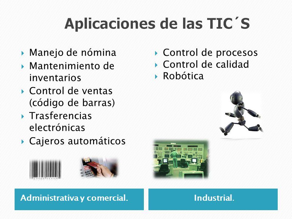 Administrativa y comercial.Industrial. Manejo de nómina Mantenimiento de inventarios Control de ventas (código de barras) Trasferencias electrónicas C
