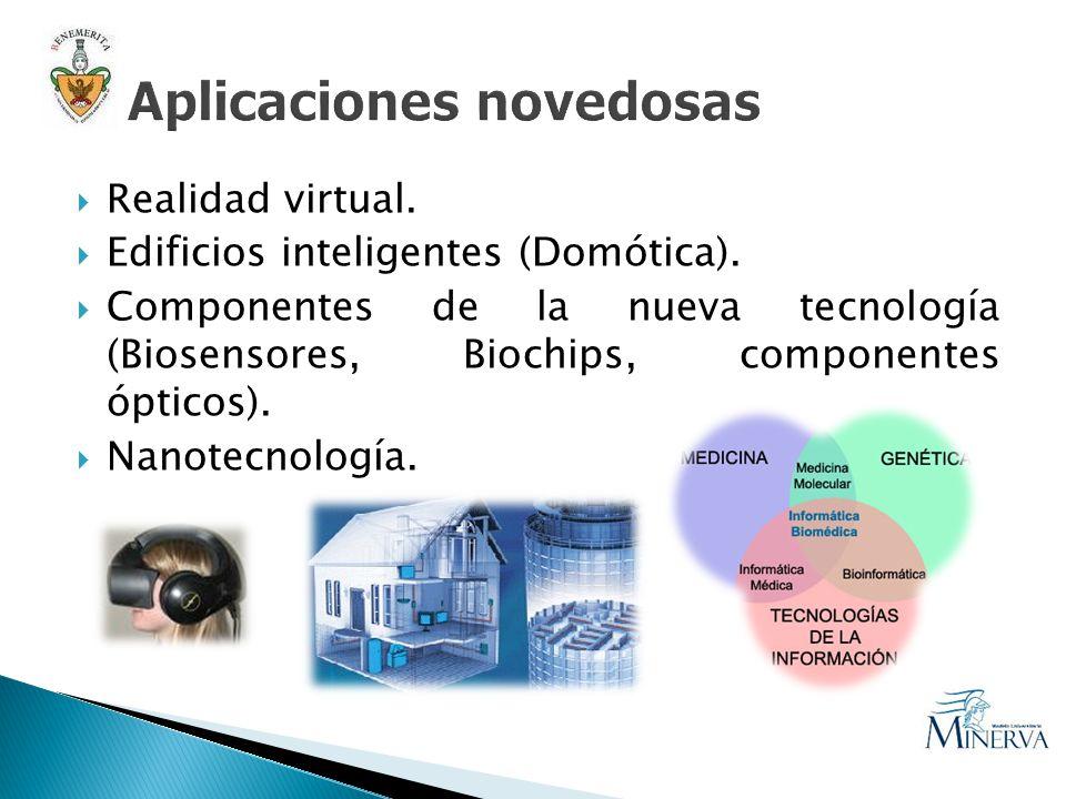 Realidad virtual. Edificios inteligentes (Domótica). Componentes de la nueva tecnología (Biosensores, Biochips, componentes ópticos). Nanotecnología.