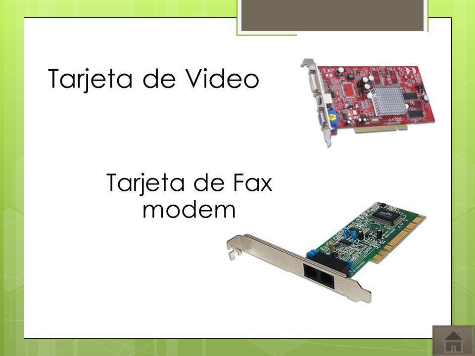 Tarjeta de Fax modem Tarjeta de Video