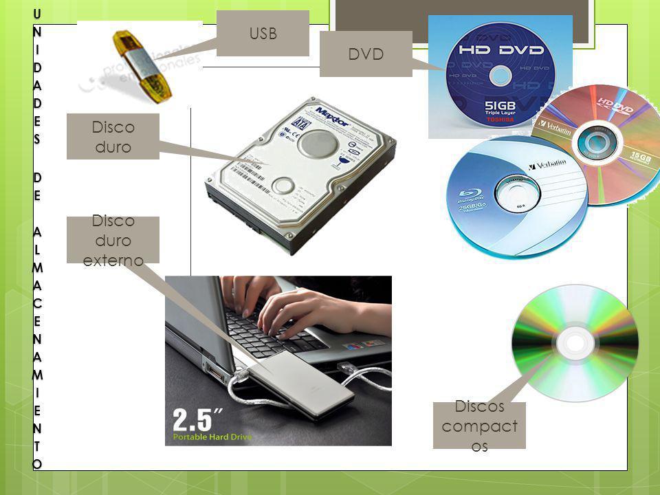 Disco duro USB DVD Discos compact os Disco duro externo