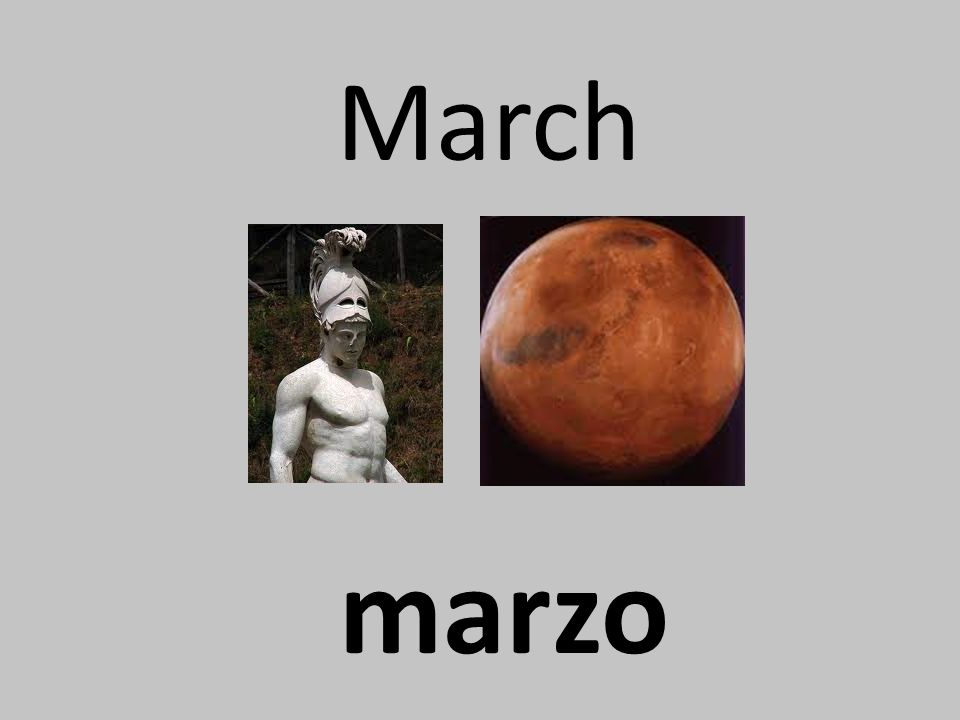 March marzo