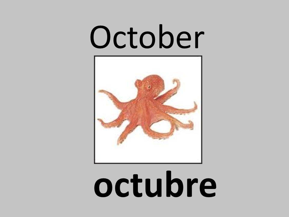 October octubre
