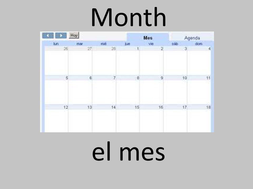 Month el mes