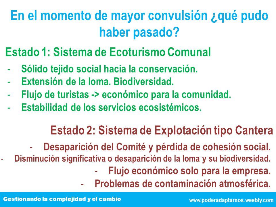 www.poderadaptarnos.weebly.com Gestionando la complejidad y el cambio En el momento de mayor convulsión ¿qué pudo haber pasado.