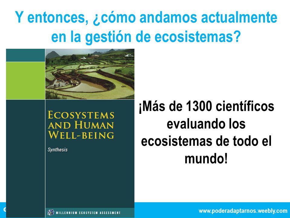 TÍTULO DE LA EXPOSICIÓN www.poderadaptarnos.weebly.com Gestionando la complejidad y el cambio Y entonces, ¿cómo andamos actualmente en la gestión de ecosistemas.