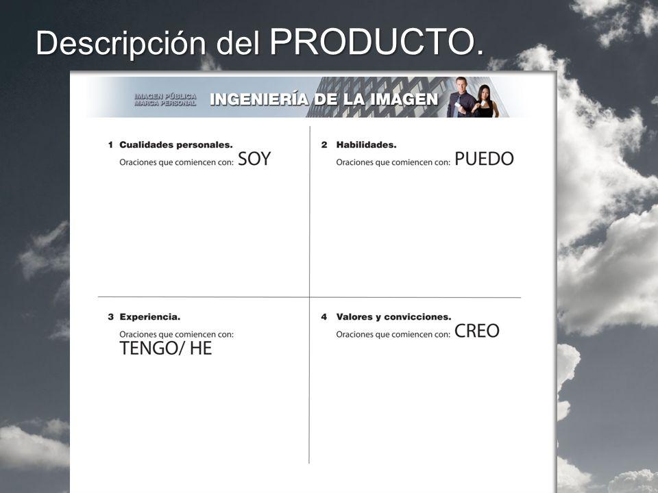 Descripción del PRODUCTO.