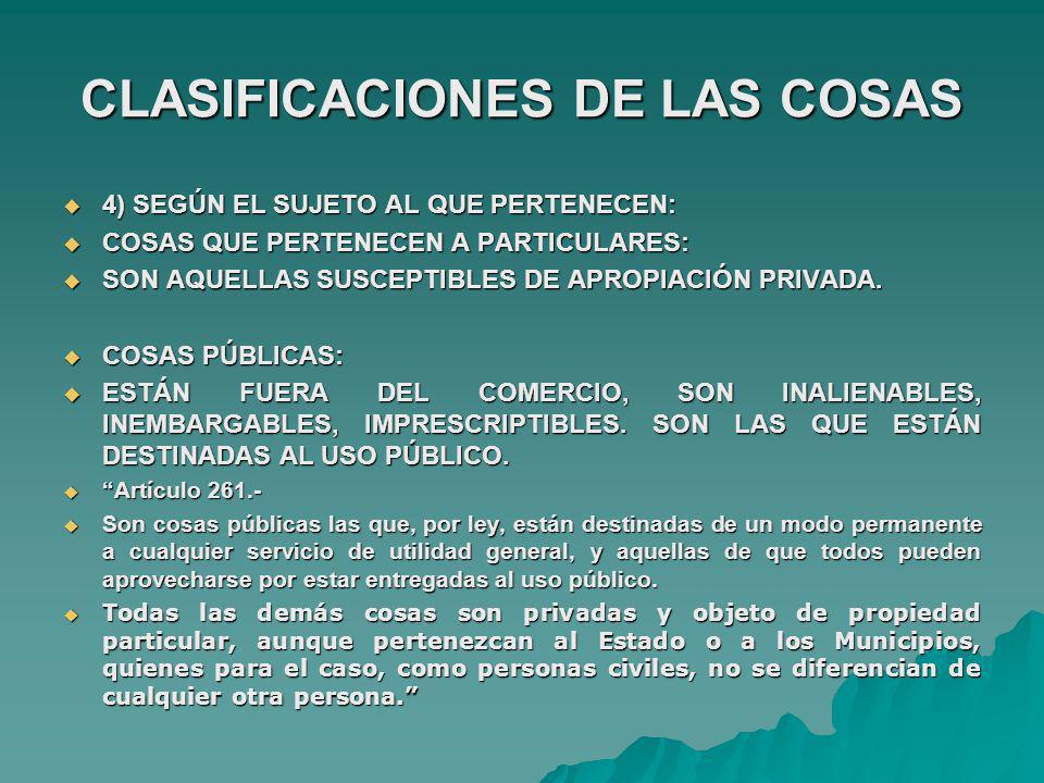 CLASIFICACIONES DE LAS COSAS 5) ) SEGÚN LA CONSIDERACIÓN SOCIAL DE LAS COSAS: 5) ) SEGÚN LA CONSIDERACIÓN SOCIAL DE LAS COSAS: FUNGIBLES: FUNGIBLES: SON COSAS DE GENERO ( RES IN GENERE).