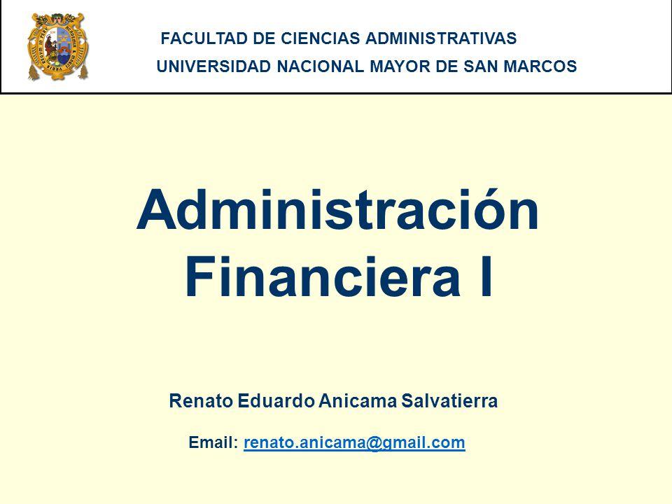 ADMINISTRACION FINANCIERA I - UNMSM Revisar los cronogramas de pagos para los diferentes tipos de préstamo, realizados todos bajo el método francés.