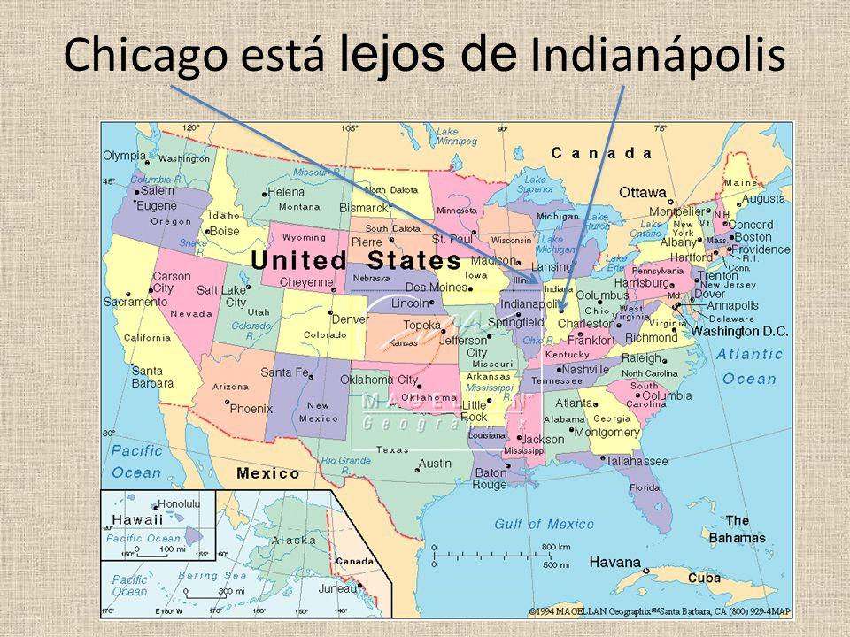 Chicago está lejos de Indianápolis