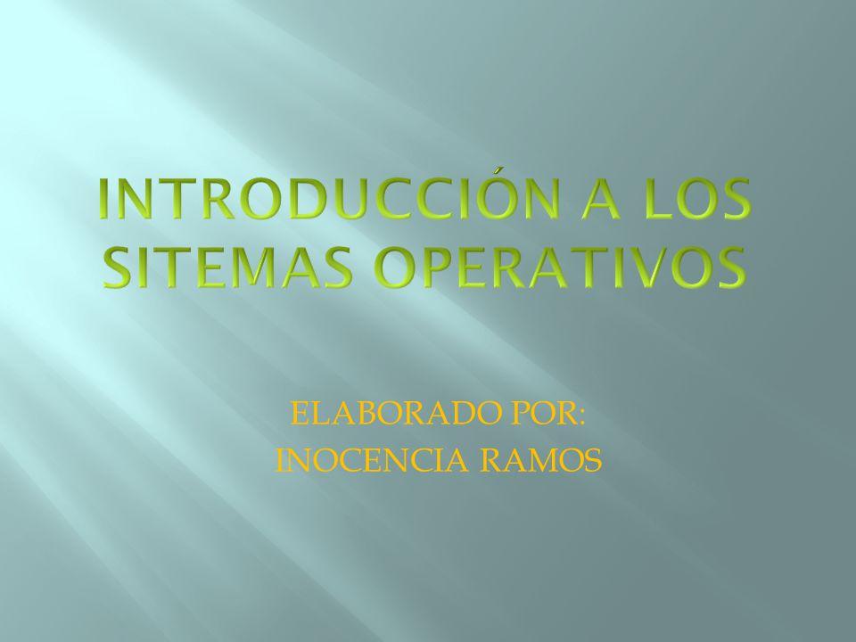 ELABORADO POR: INOCENCIA RAMOS
