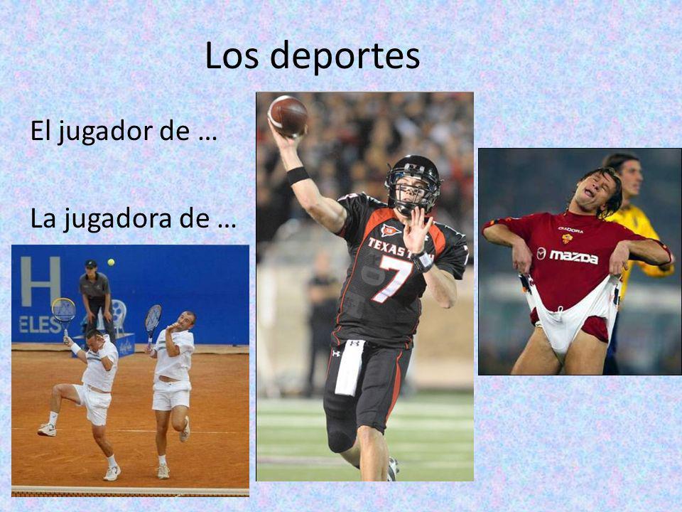 Los deportes El jugador de … La jugadora de …