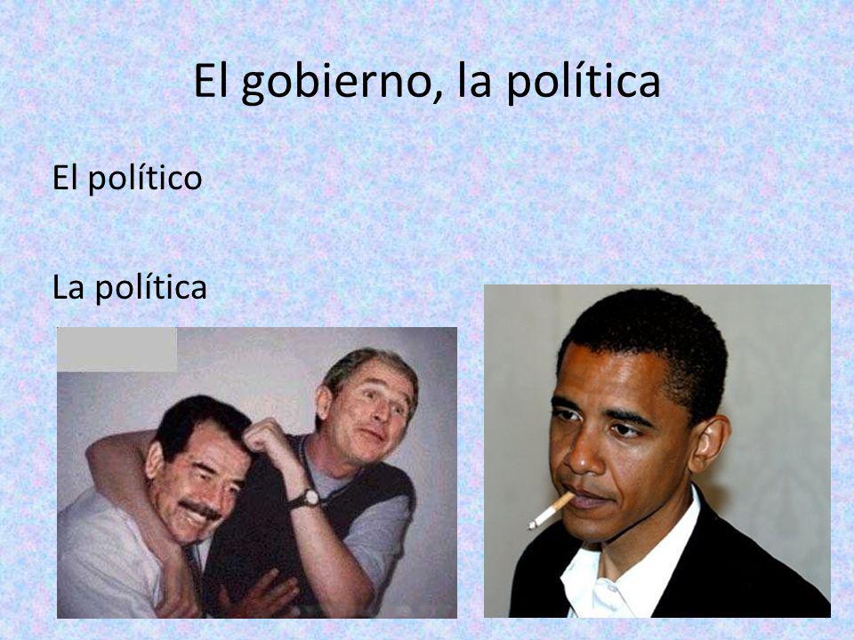 El gobierno, la política El político La política