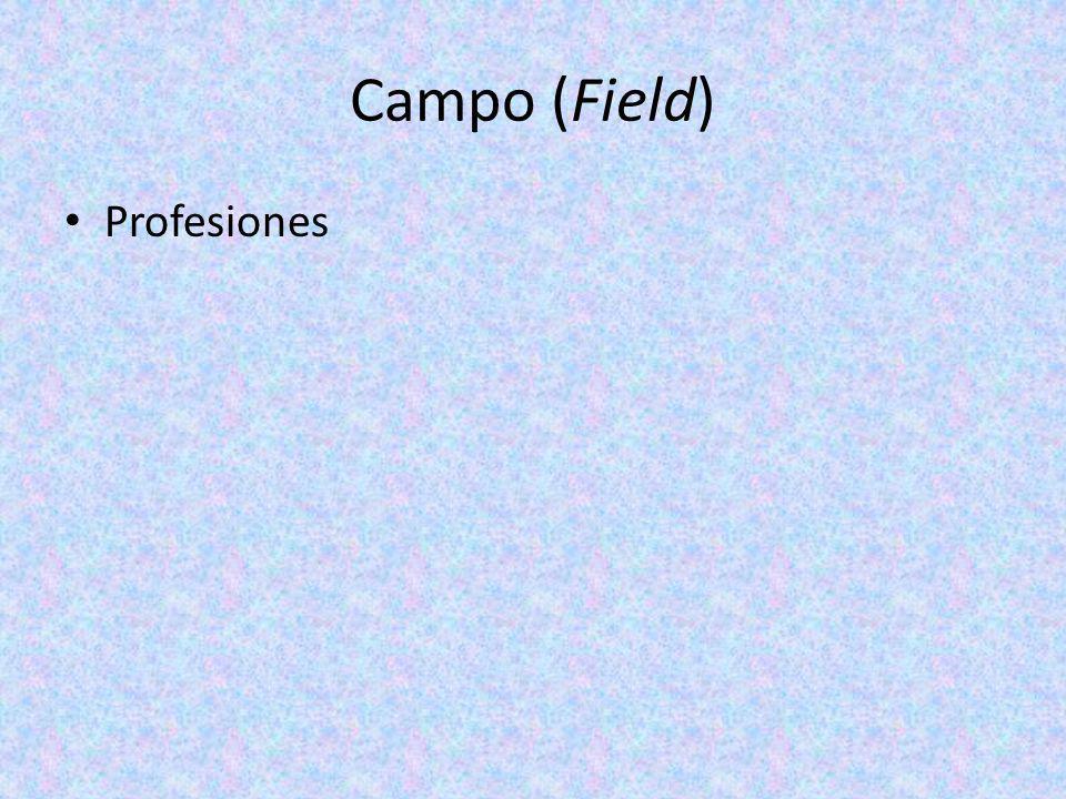 Campo (Field) Profesiones