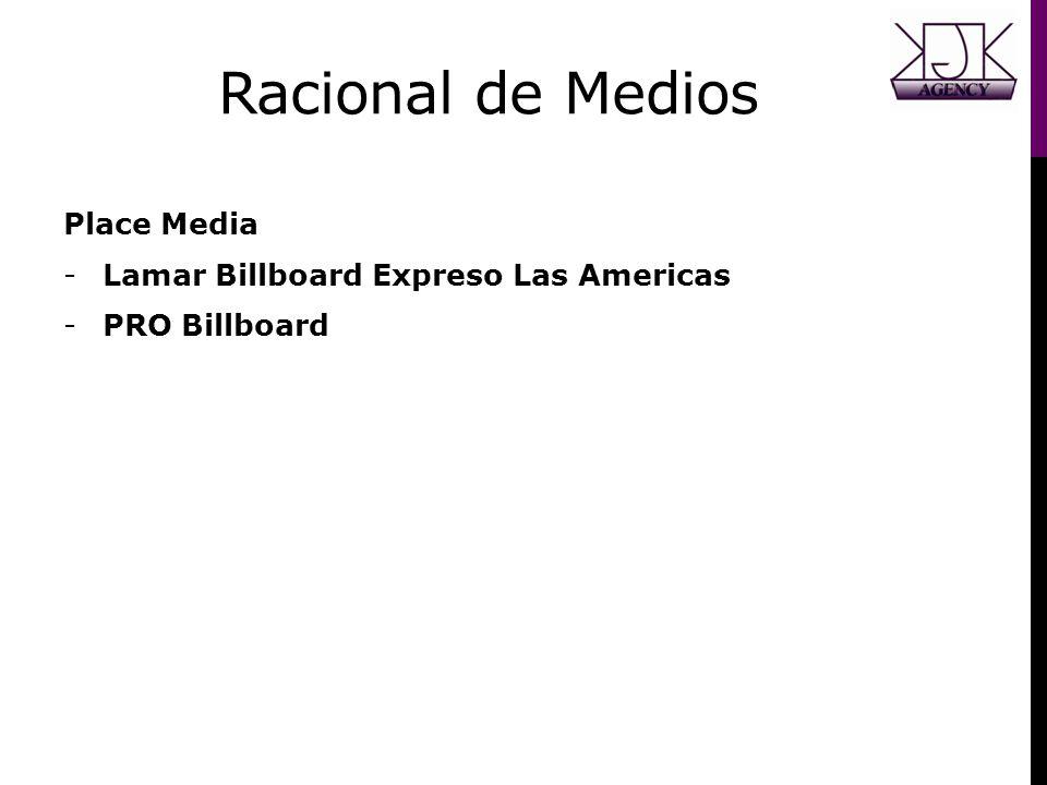 Racional de Medios Place Media -Lamar Billboard Expreso Las Americas -PRO Billboard