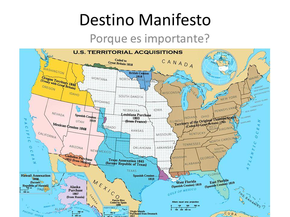 Destino Manifesto Porque es importante?