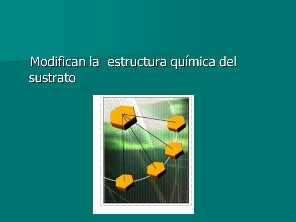 Modifican la estructura química del sustrato Modifican la estructura química del sustrato