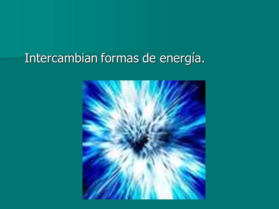 Intercambian formas de energía. Intercambian formas de energía.