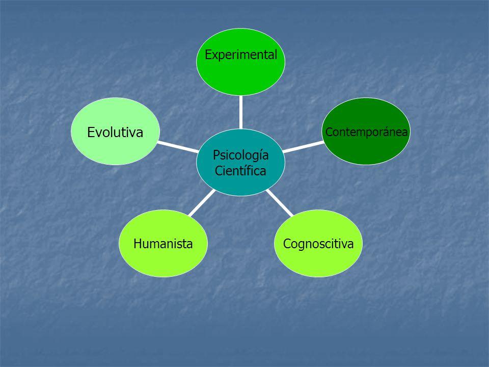 Psicología Científica Experimental ContemporáneaCognoscitivaHumanistaEvolutiva