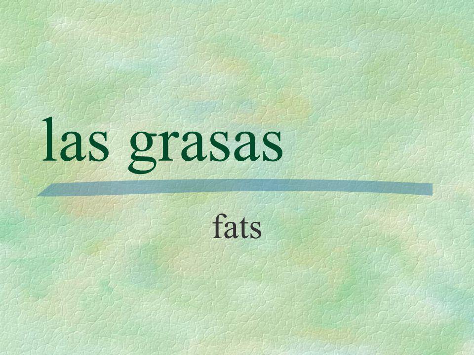las grasas fats