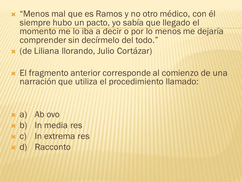 Menos mal que es Ramos y no otro médico, con él siempre hubo un pacto, yo sabía que llegado el momento me lo iba a decir o por lo menos me dejaría com